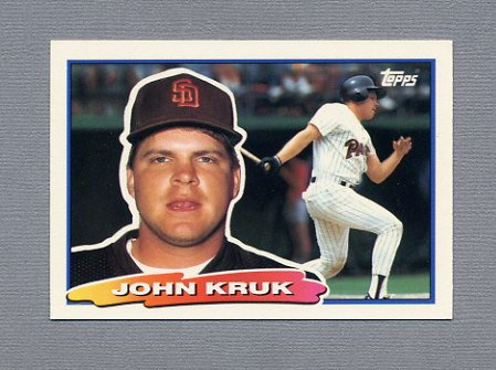 1988 Topps BIG Baseball #060 John Kruk - San Diego Padres