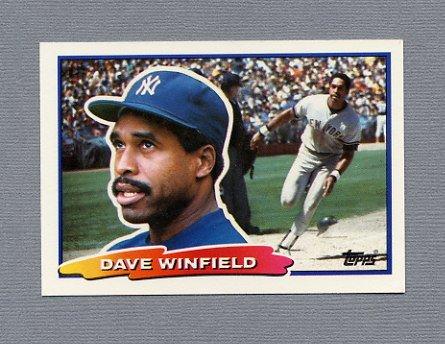 1988 Topps BIG Baseball #024 Dave Winfield - New York Yankees