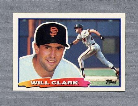 1988 Topps BIG Baseball #009 Will Clark - San Francisco Giants