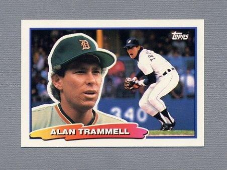 1988 Topps BIG Baseball #008 Alan Trammell - Detroit Tigers