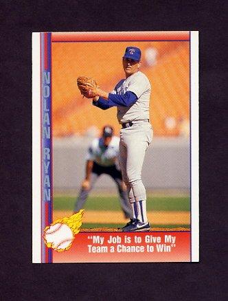1991 Pacific Ryan Texas Express I Baseball #086 Nolan Ryan - Texas Rangers