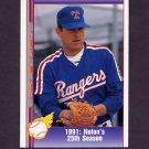 1991 Pacific Ryan Texas Express I Baseball #076 Nolan Ryan - Texas Rangers