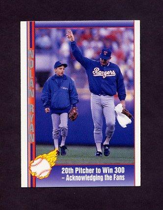 1991 Pacific Ryan Texas Express I Baseball #067 Nolan Ryan - Texas Rangers