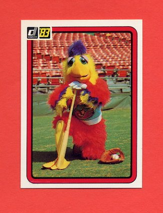 1983 Donruss Baseball #645 The Chicken