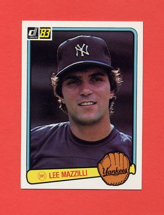 1983 Donruss Baseball #638 Lee Mazzilli - New York Yankees