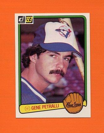 1983 Donruss Baseball #623 Geno Petralli - Toronto Blue Jays
