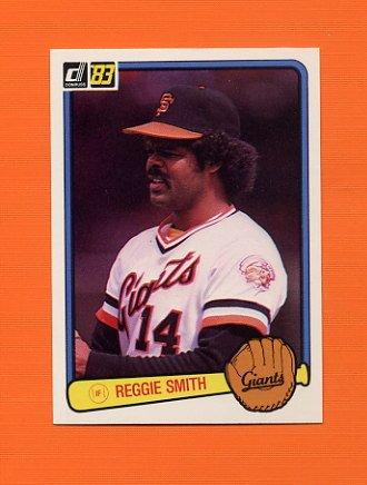 1983 Donruss Baseball #611 Reggie Smith - San Francisco Giants