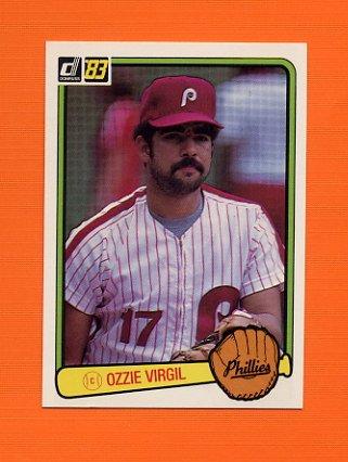 1983 Donruss Baseball #606A Ozzie Virgil - Philadelphia Phillies