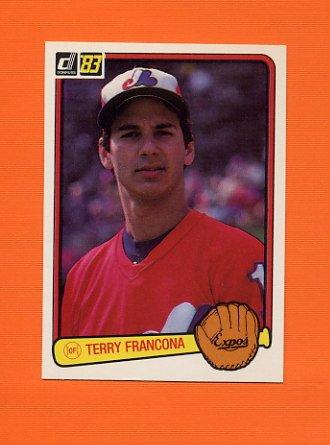 1983 Donruss Baseball #592 Terry Francona - Montreal Expos