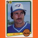 1983 Donruss Baseball #507 Dave Stieb - Toronto Blue Jays