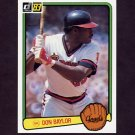 1983 Donruss Baseball #493 Don Baylor - California Angels