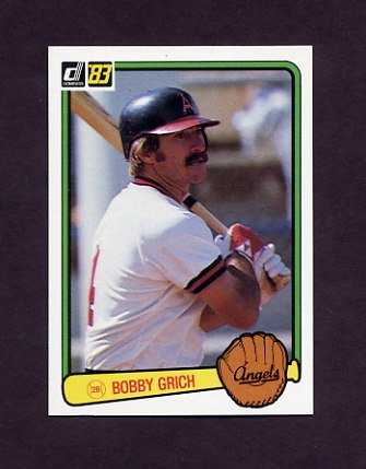 1983 Donruss Baseball #468 Bobby Grich - California Angels