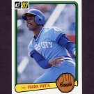 1983 Donruss Baseball #464 Frank White - Kansas City Royals
