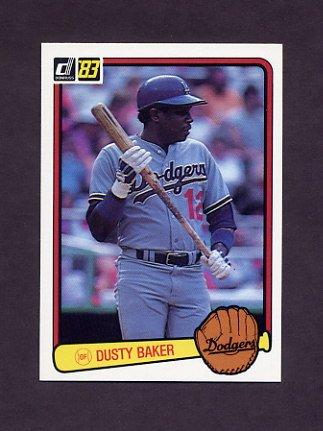 1983 Donruss Baseball #462 Dusty Baker - Los Angeles Dodgers