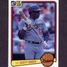 1983 Donruss Baseball #462 Dusty Baker - Los Angeles Dodgers