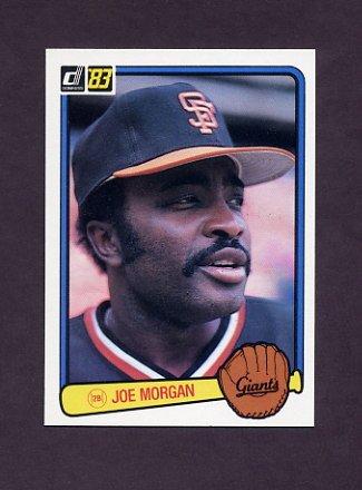 1983 Donruss Baseball #438 Joe Morgan - San Francisco Giants