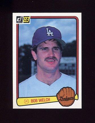 1983 Donruss Baseball #410 Bob Welch - Los Angeles Dodgers
