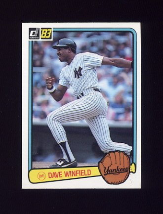 1983 Donruss Baseball #409 Dave Winfield - New York Yankees