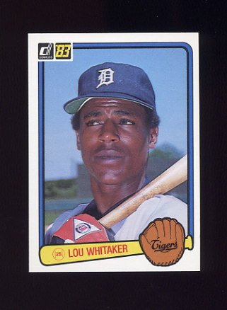 1983 Donruss Baseball #333 Lou Whitaker - Detroit Tigers