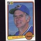 1983 Donruss Baseball #307 Gaylord Perry - Seattle Mariners
