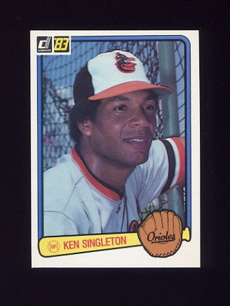 1983 Donruss Baseball #257 Ken Singleton - Baltimore Orioles