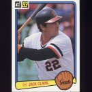 1983 Donruss Baseball #222 Jack Clark - San Francisco Giants
