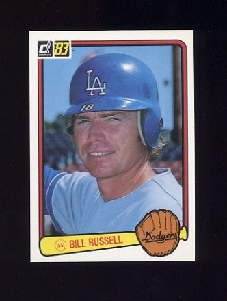 1983 Donruss Baseball #210 Bill Russell - Los Angeles Dodgers