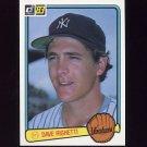 1983 Donruss Baseball #199 Dave Righetti - New York Yankees