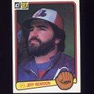 1983 Donruss Baseball #194 Jeff Reardon - Montreal Expos