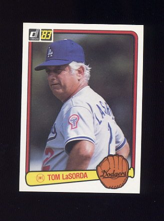 1983 Donruss Baseball #136 Tom LaSorda MG - Los Angeles Dodgers