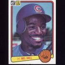 1983 Donruss Baseball #126 Mel Hall RC - Chicago Cubs