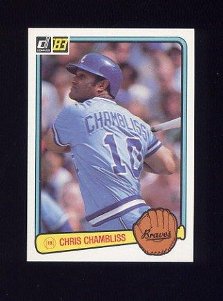 1983 Donruss Baseball #123 Chris Chambliss - Atlanta Braves