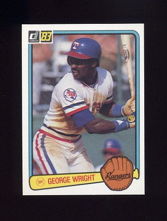 1983 Donruss Baseball #116 George Wright RC - Texas Rangers
