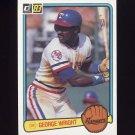 1983 Donruss Baseball #116 George Wright RC - Texas Rangers