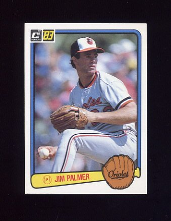 1983 Donruss Baseball #077 Jim Palmer - Baltimore Orioles