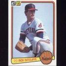 1983 Donruss Baseball #072 Rick Sutcliffe - Cleveland Indians