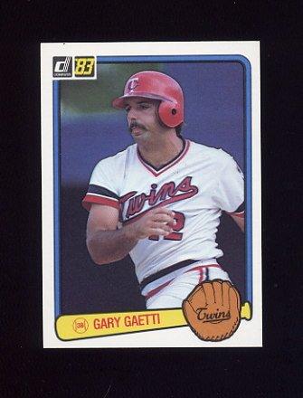 1983 Donruss Baseball #053 Gary Gaetti RC - Minnesota Twins