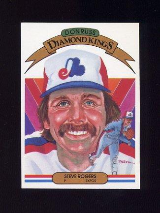 1983 Donruss Baseball #018 Steve Rogers DK - Montreal Expos