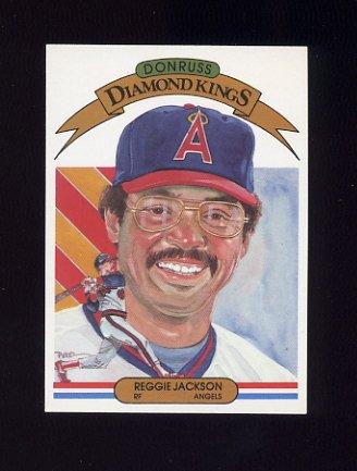 1983 Donruss Baseball #003 Reggie Jackson DK - California Angels
