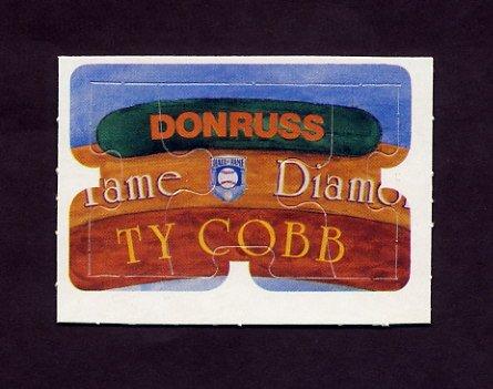 1983 Donruss Baseball Ty Cobb Diamond King Puzzle #04,#05,#06