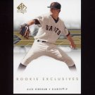 2008 SP Authentic Baseball Rookie Exclusives #AH Alex Hinshaw - San Francisco Giants