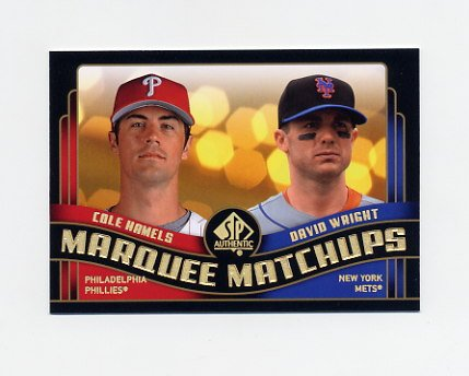 2008 SP Authentic Baseball Marquee Matchups #MM28 Cole Hamels / David Wright