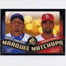 2008 SP Authentic Baseball Marquee Matchups #MM10 Carlos Zambrano / Albert Pujols