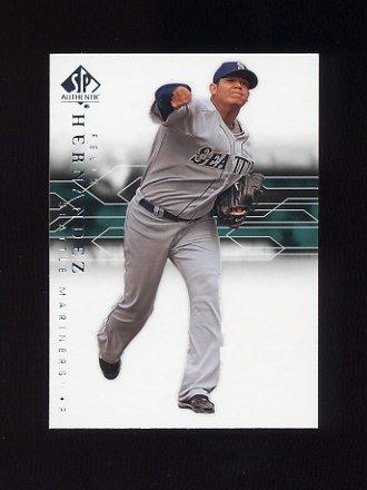 2008 SP Authentic Baseball #092 Felix Hernandez - Seattle Mariners