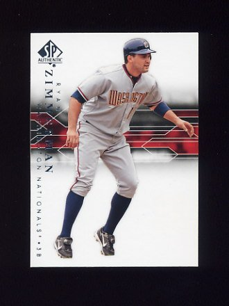 2008 SP Authentic Baseball #082 Ryan Zimmerman - Washington Nationals