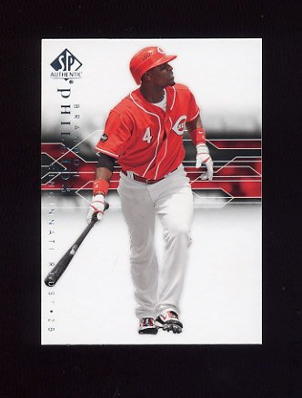 2008 SP Authentic Baseball #079 Brandon Phillips - Cincinnati Reds