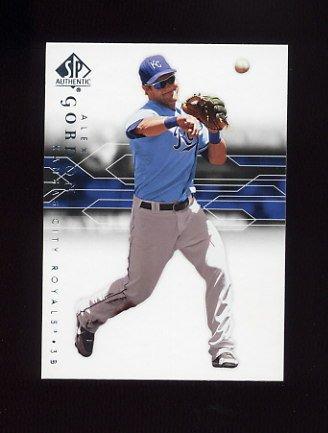 2008 SP Authentic Baseball #071 Alex Gordon - Kansas City Royals