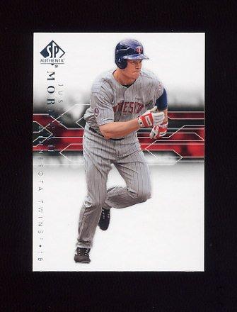 2008 SP Authentic Baseball #069 Justin Morneau - Minnesota Twins
