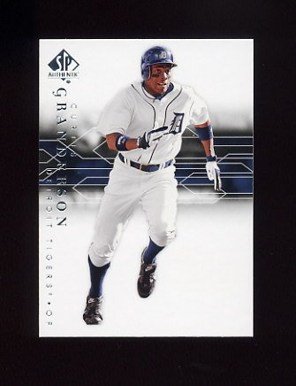 2008 SP Authentic Baseball #062 Curtis Granderson - Detroit Tigers