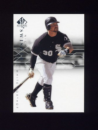 2008 SP Authentic Baseball #061 Nick Swisher - Chicago White Sox